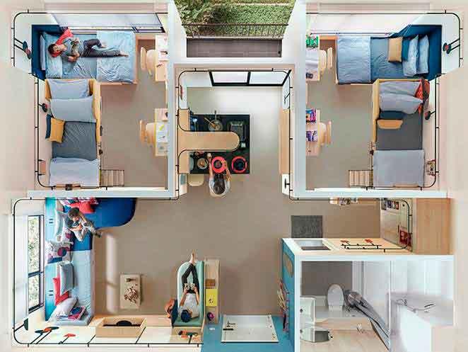"""Экспериментальное общежитие для студентов """"социальное перекрытие"""""""
