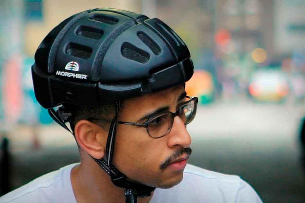Тонкий, легкий, складной шлем