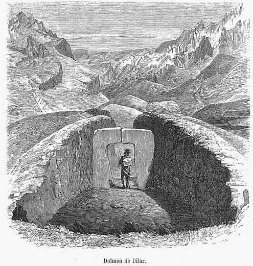 Дольмен в Андалусии. Гравюра 1868