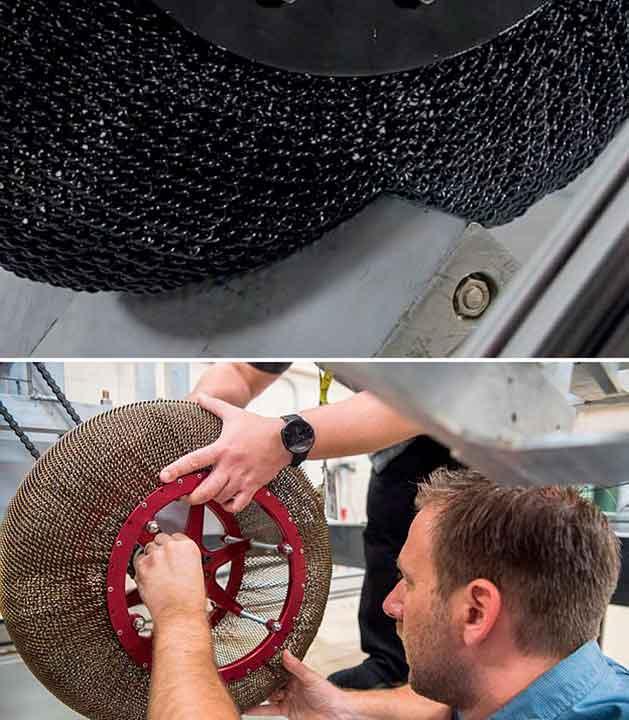 Плетеное колесо для Марсоходов.