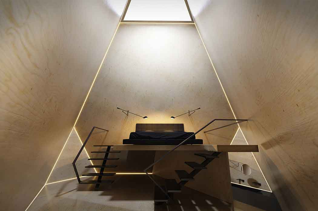 Многогранный отель - шедевр искусства.