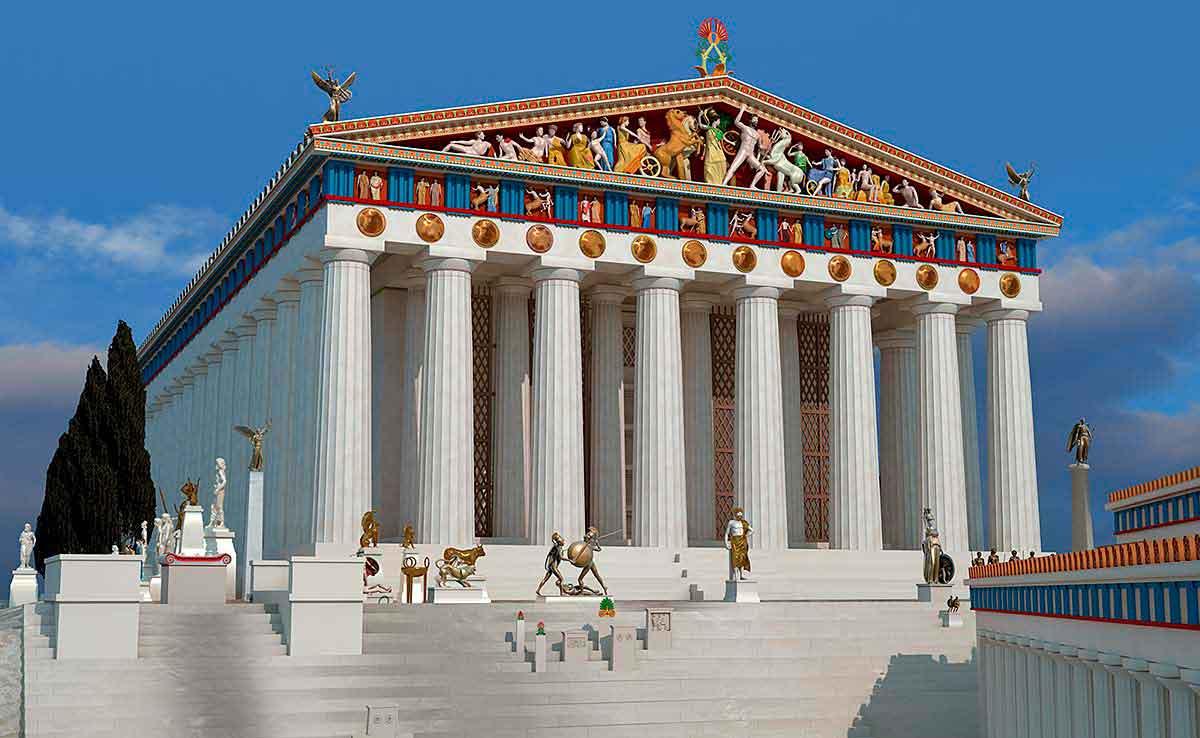Храм Зевса в Олимпии. Реконструкция
