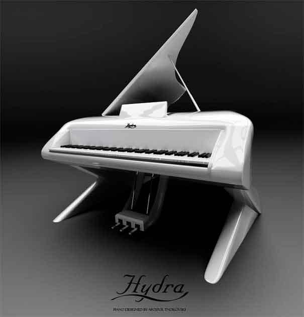 Невероятный дизайн фортепьяно в честь Леди Гаги