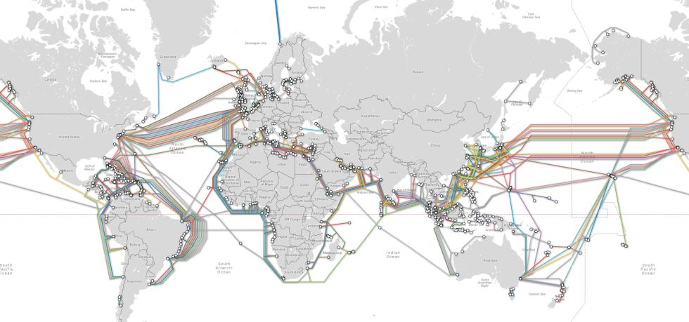 Как электронные письма достигают Америки? Межконтинентальный интернет.