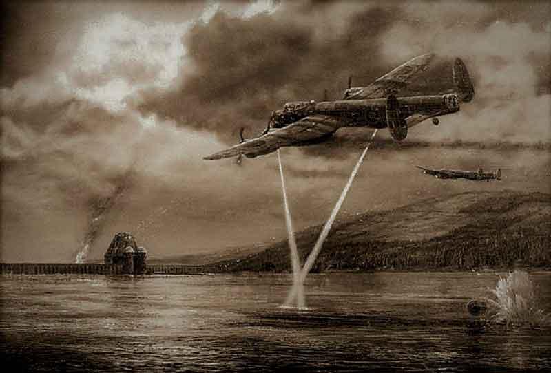 Как британские инженеры создали прыгающую бомбу.