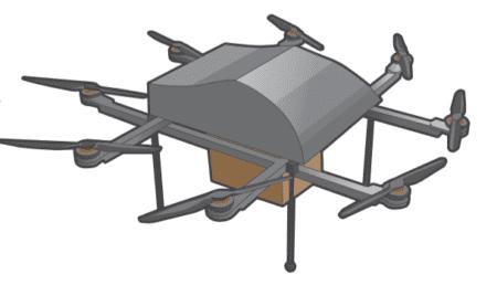 Доставка дронами онлайн-заказов