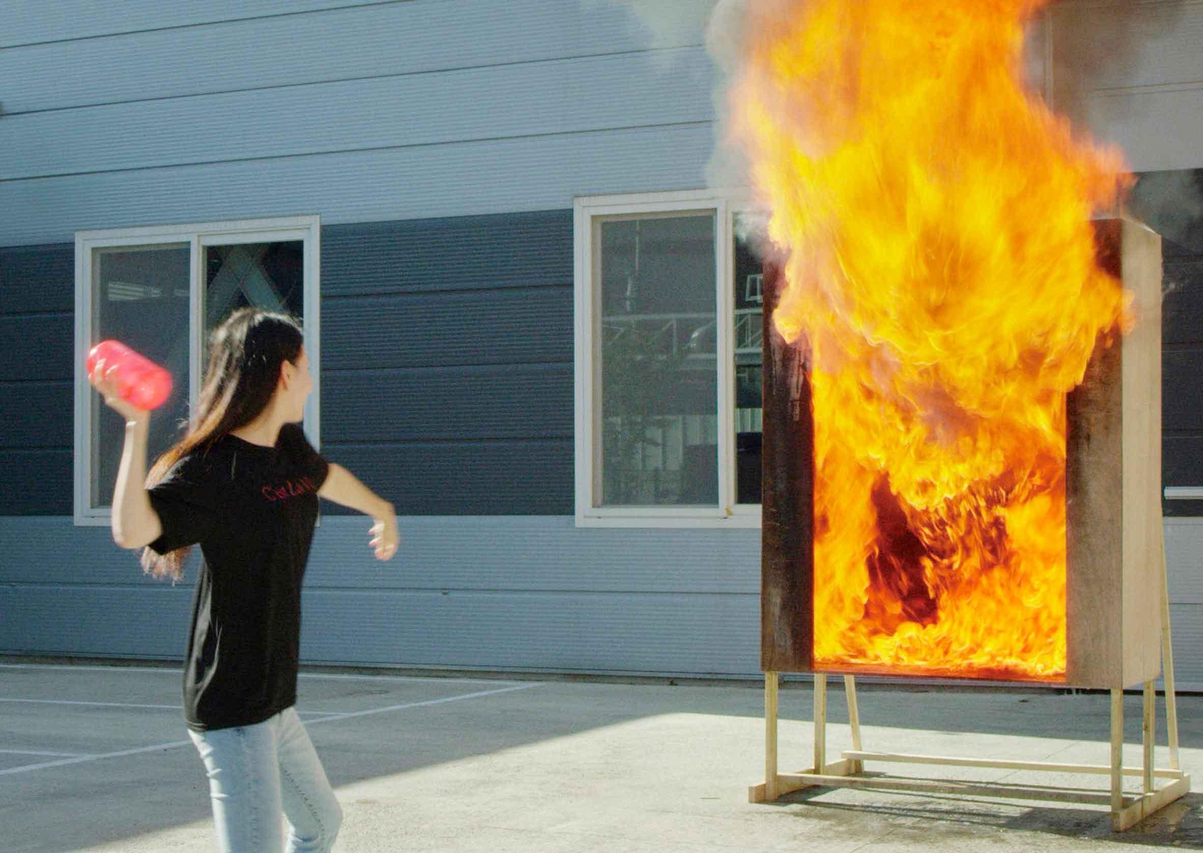 SAMSUNG разработали вазу огнетушитель