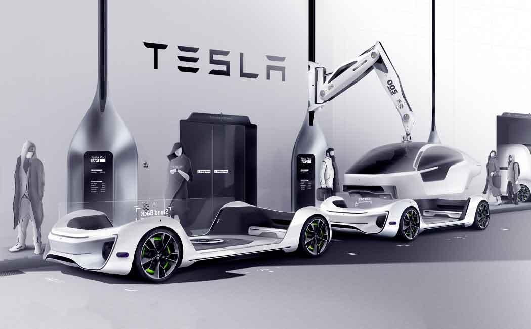 Капсульная система Tesla и ее модули для транспортировки