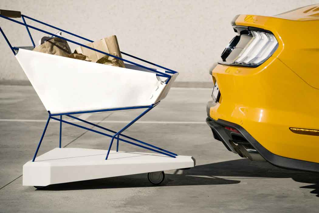 Продуктовая корзина от Ford с парктроником и авто торможением