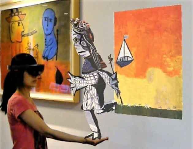 Анимированная картина Пикассо
