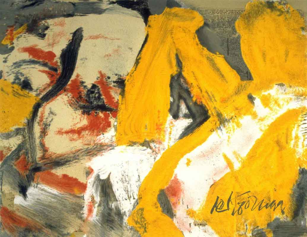В. де Кунинг. Большая блондинка (Мерилин Монро). 1982