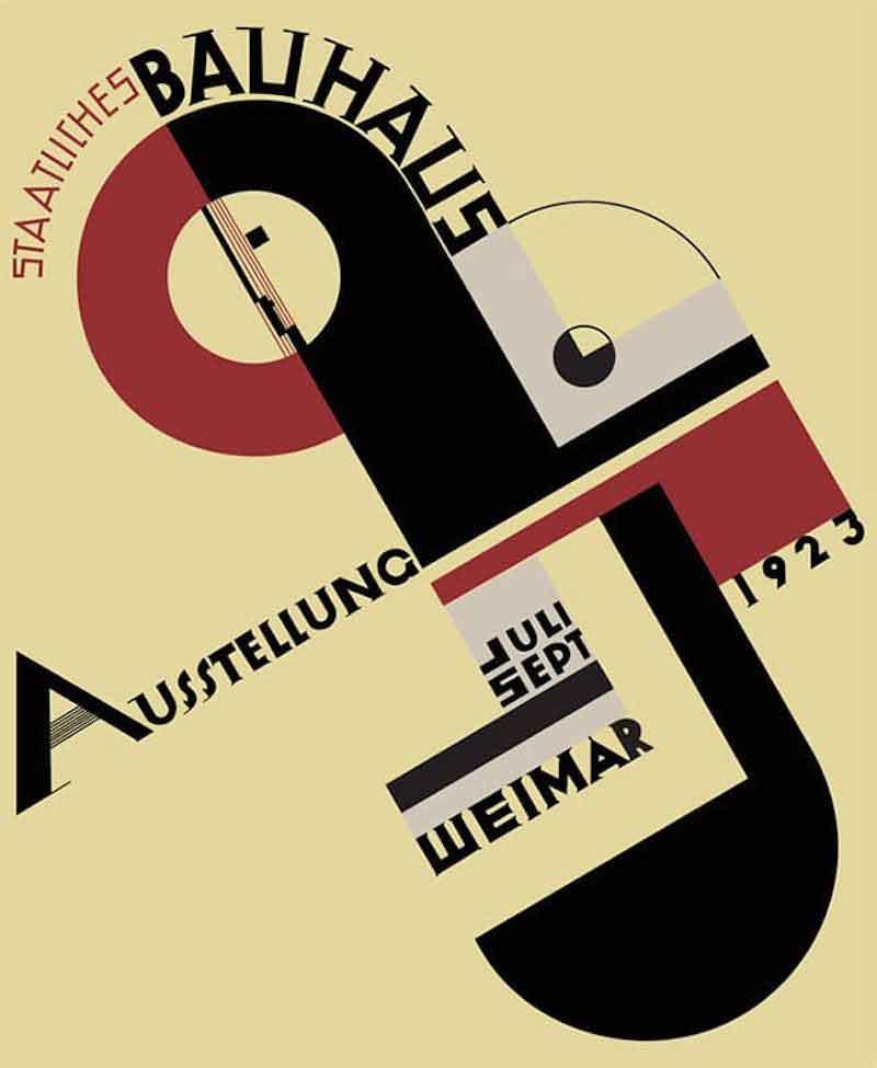 Афиша для выставки Баухаузав Веймаре, литография. Йост Шмидт, 1923 год. Архив Баухауза, Берлин / © VG Bild-Kunst, Бонн, 2016.