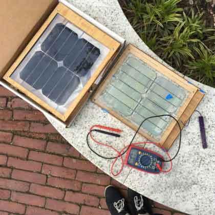 Солнечная зарядка в коробке