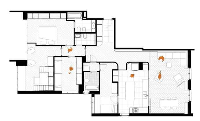 План апартаментов Plus Ultra