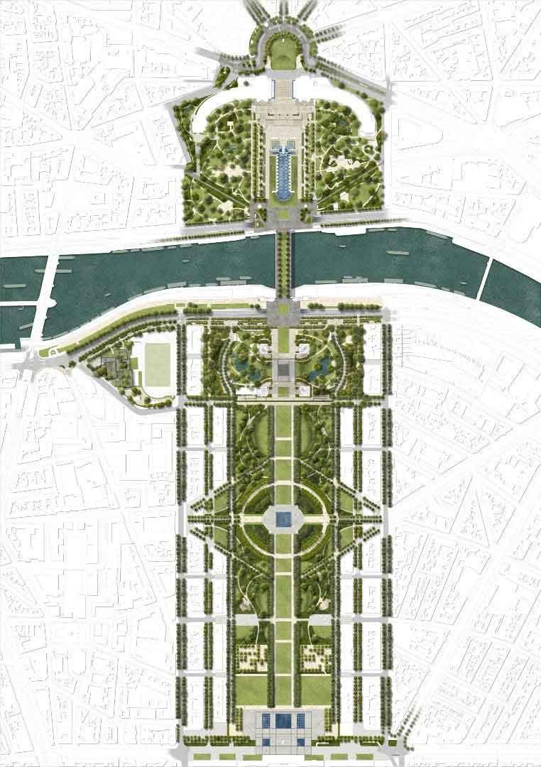 Дизайнеры представили план реконструкции Эйфелевой башни.