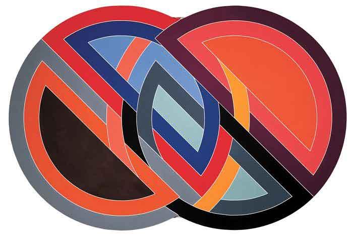 Ф. Стелла. Пересекающиеся круги. 1970