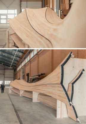 Создание закрученных деревянных полос