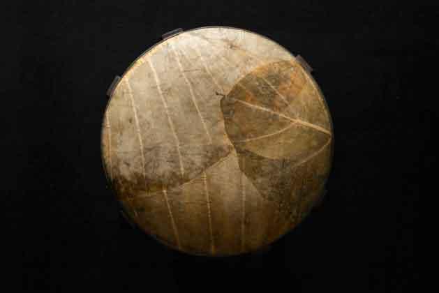 табурет Furf, оббитый растительной кожей