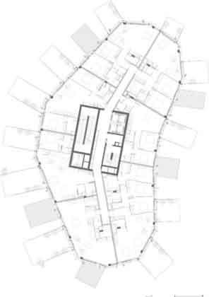 План здания L'Arbre Blanc