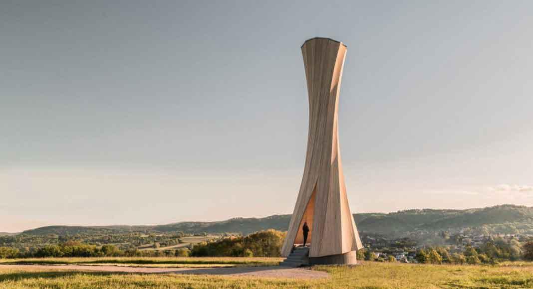 уникальная деревянная башня