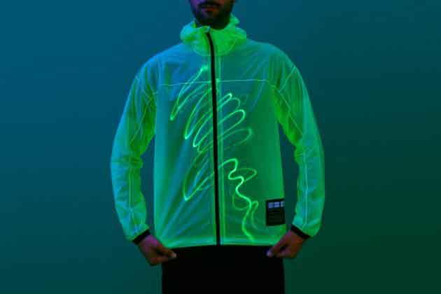 Светящаяся курточка, узоры
