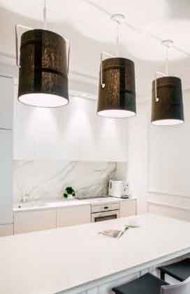 Три лампы на кухне