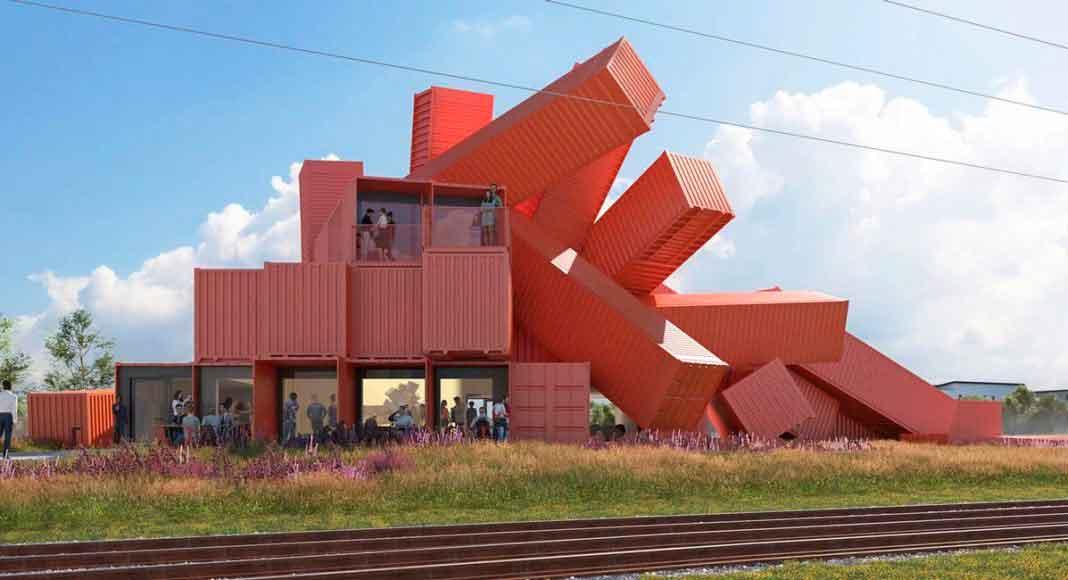 Здание из контейнеров