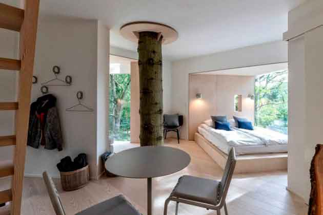 Интерьер дома на дереве