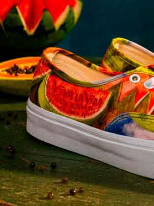 кроссовки с картиной Фриды Кало Vault by Vans