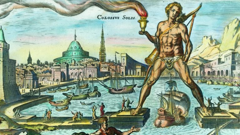 Колосс Родосский — гигантская статуя бога Солнца Гелиоса