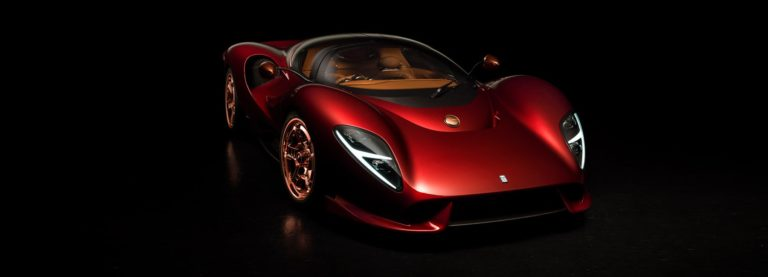 Компания De Tomaso представила ретро-футуристический суперкар P72