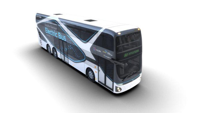 Первый двухэтажный электробус от компании Hyundai Motor