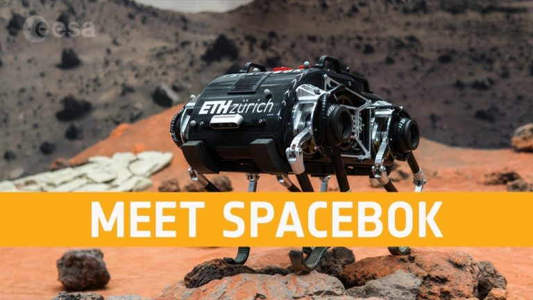 Робот SpaceBok способен перемещаться в условиях лунной гравитации подобно спрингбоку