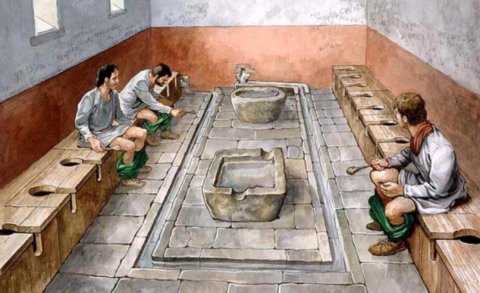 Древнеримский нетворкинг.— Туалет как место для общения