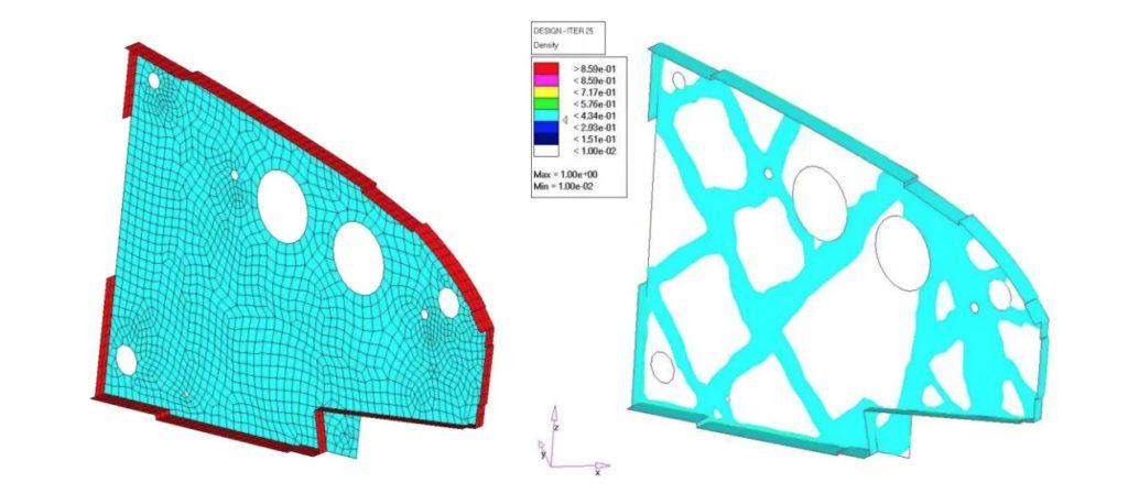 Оптимизация топологии ребра ребра Airbus A380